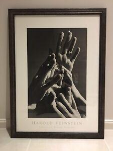 Aspiring Hands by Harold Feinstein, print w/ glass front, framed Bentleigh East Glen Eira Area Preview