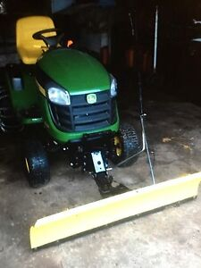 Lawn tractor snow-plow