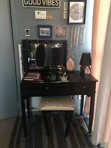 Black Bed, bath, and beyond convertible vanity