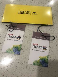 2 tickets  to the Cox Plate legends bar