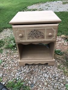 Bed side table and headboard