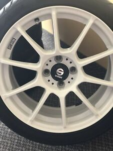 17 inch sparco with rubber new