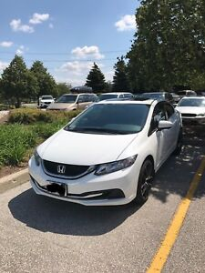 2014 Honda Civic Sedan White Rebuilt Daily Driver