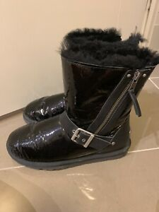 Authentic like NEW Black Glossy UGG Genuine Boots