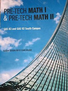 Pre tech math 1 and pre tech math 2