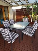 6 Person Outdoor Setting with Glass Top Table Alberton Port Adelaide Area Preview