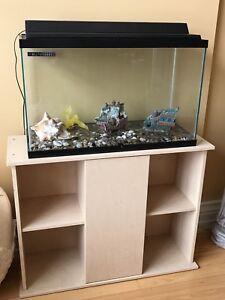 30 Gallon Fish Aquarium with Stand/Accessories