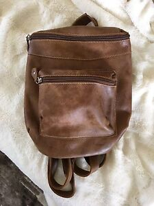 Roots Leather Backpack purse