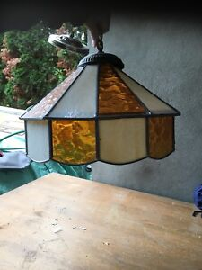 STAINED GLASS CEILING FIXTURE
