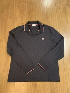 Moncler MENS AUTHENTIC long sleeve polo size XL