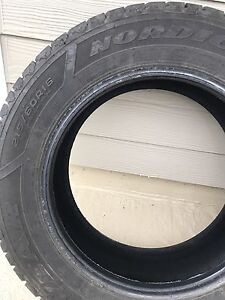 Set of 4 Goodyear Nordic Winter tires 215 60R16
