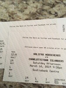 Mooseheads lower bowl tickets Saturday March 16th section 4