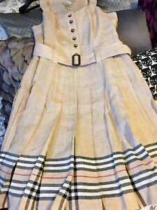 Burberry summer linen dress