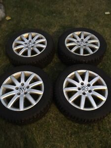 205/55/r16 Gislaved nordfrost 5 studded tires on vw rims