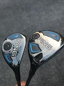 Ping G series 3 wood and Hybrid set $420