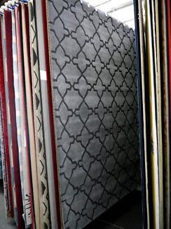 New Coppola Caravan Moroccan Grey Plush Wool Geometric Rugs