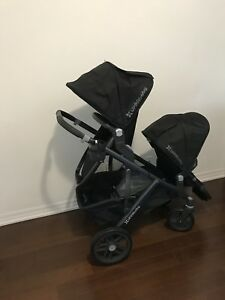 UPPAbaby VISTA stroller, bassinet, rumble seat, accessories