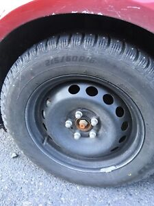 215 60 16 studded tires on rims 5x108