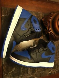 Air jordan 1 royal blue size 7Y with footaction receipt