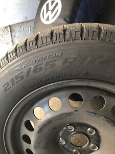 """New 17"""" OEM Volkswagen Rims & Winter Tire's"""