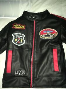 Cars faux leather jacket sz 4T