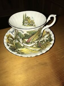 Royal Albert Country Village Cup & Saucer