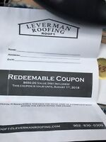 Leverman roofing coupon