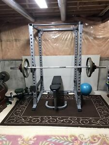 Olympic weights, Power Rack and weight bench
