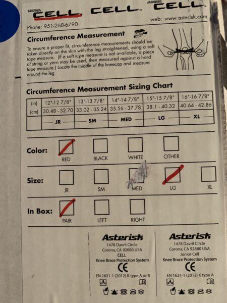 Knee Braces Asterisk | Other Parts & Accessories | Gumtree Australia