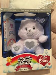 NEW RARE 25th ANNIVERSARY CARE BEAR  WITH DVD