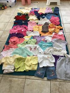 80+ items of baby girl clothes sizes 0-6 months