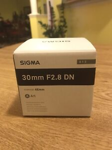 Sony E-Mount- Sigma 30mm F2.8 for Sale.