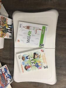 Wii fit and assorted games for sale