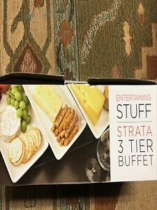 3 tier buffet style plates for entertaining