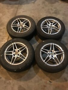 15 in rims 4x100 pattern (tires are pretty much done)