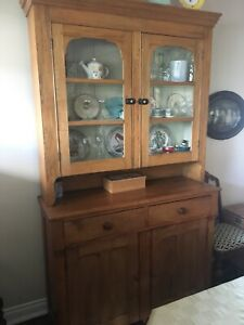 Antique Dining Room Pine hutch NEW PRICE