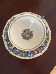 Blueberry Bowl and Saucer