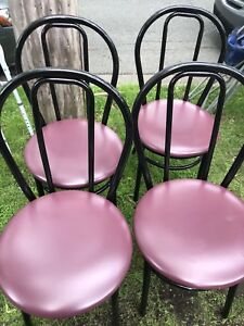 4 metal chairs