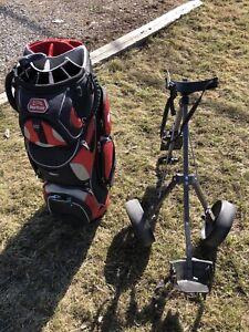 Sac de golf avec charriot