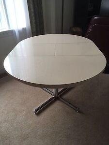 Retro pedestal kitchen table 70's era
