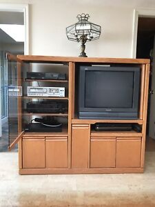 Tv, stereo equipment and cabinet