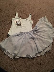 Girls Blue Ballet bodysuit and skirt-size 8-10