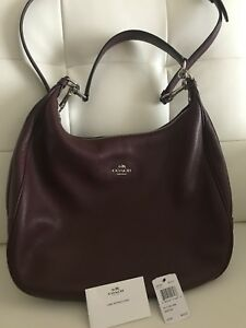 Coach Harley Pebbled Leather Hobo Crossbody Shoulder Bag-Purse