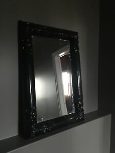 Large black mirror 40x30