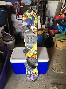 Child's starter snowboard