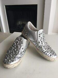 Ash Silver Slip On Sneakers with Studs