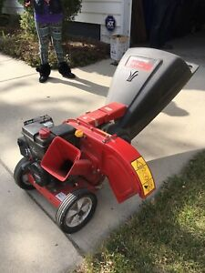 Fall cleanup? Yardworks chipper shredder 450$