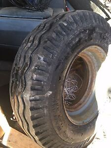 Mobile home trailer tire and rim