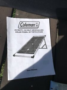 Coleman 40watt 12-volt solar panel for RV or Boat