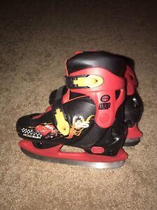 Boys Lightening McQueen skates